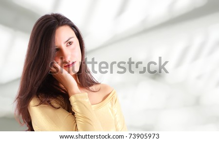 Young woman thinking #73905973