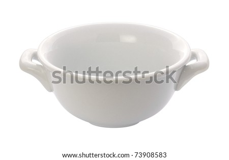 Soup Crock Bowl isolated with a clipping path #73908583