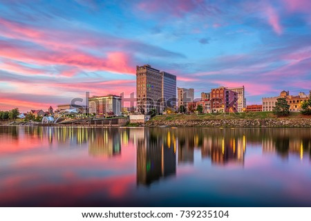 Charleston, West Virginia, USA skyline on the Kanawha River. #739235104