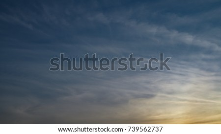 The sunset with blue sky in the evening on summer #739562737