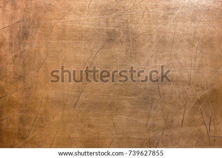 Metal surface background, old texture  bronze plate #739627855