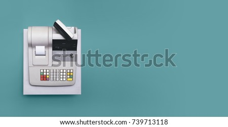 Cash register Royalty-Free Stock Photo #739713118