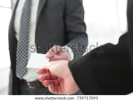 Exchange business card for first time meet #739717093