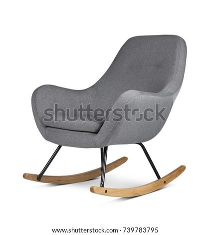 Modern armchair on white background #739783795