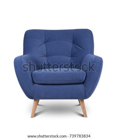 Modern armchair on white background #739783834