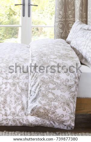 Interior of a hotel bedroom. Bedroom interior design #739877380