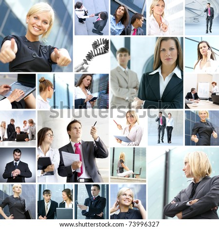 Business collage made of nine business pictures #73996327