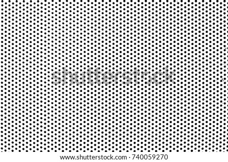 Grunge Black and White Distress. Dot Texture Background. Halftone Dotted Grunge Texture. #740059270