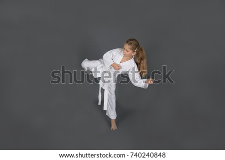 Girl martial arts fighter, training and practice #740240848