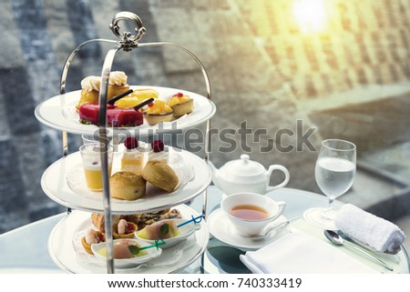afternoon tea Royalty-Free Stock Photo #740333419