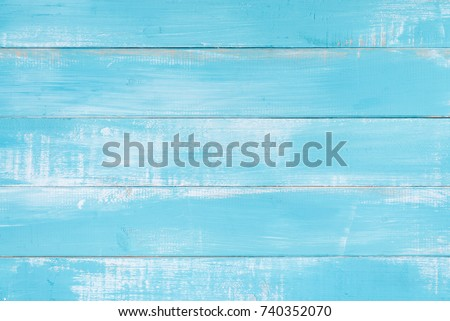 Blue wood texture background surface with old natural pattern or old wood texture table top view. Grunge surface with wood texture background. Vintage timber texture background. Rustic table top view. #740352070