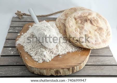 Organic flour and bread. #740699947