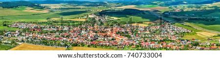 View on Spisske Podhradie town from Spis Castle - Presov region, Slovakia #740733004