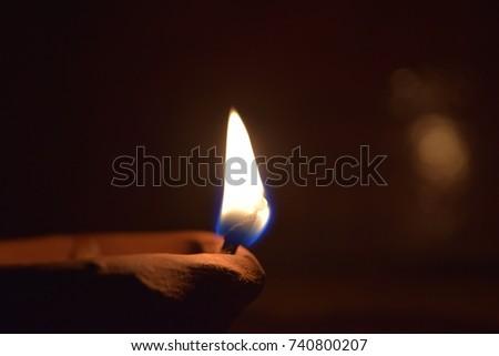 Diwali lamp closeup #740800207