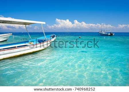 Puerto Morelos beach in Mayan Riviera Maya of Mexico #740968252