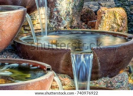 Garden Water Bowls Royalty-Free Stock Photo #740976922