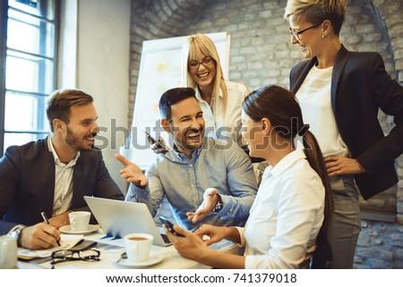 Creative business team having successful business meeting. #741379018