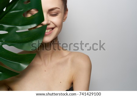 body, woman young smiling, spa                               Royalty-Free Stock Photo #741429100
