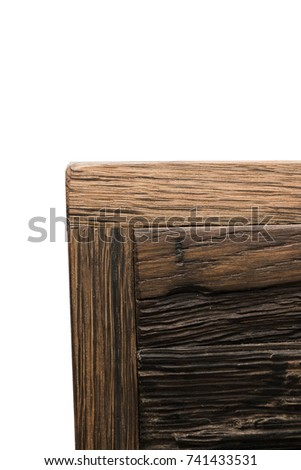Wooden isolated background texture, compound tree of different pieces. #741433531