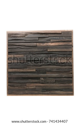 Wooden isolated background texture, compound tree of different pieces. #741434407
