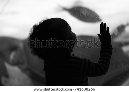 Kid and fish #741608266