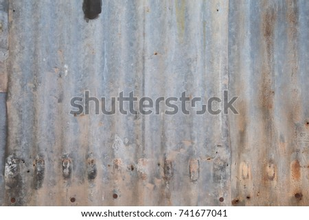Old metal sheet wall background #741677041