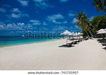 Beautiful tropical White beach on Boracay island. Philippines.  #741735907