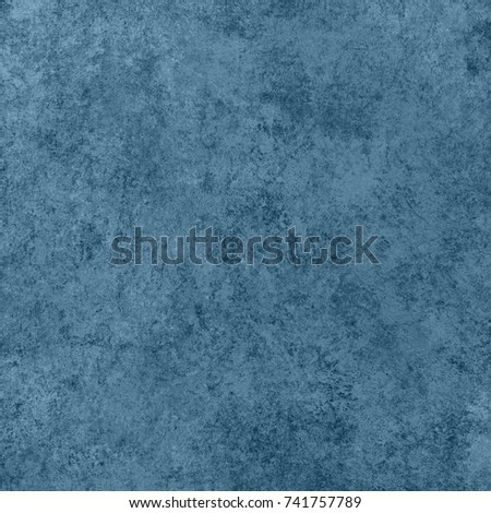 Blue designed grunge background. Vintage abstract texture #741757789