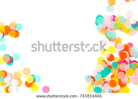 Background of colorful paper confetti, holiday  concept #741816406