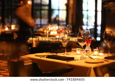 Fine dining Royalty-Free Stock Photo #741884605