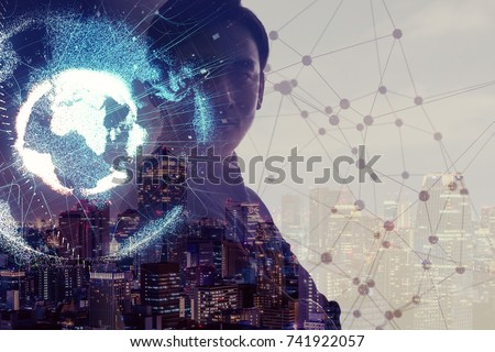Global network concept. Internet of Things. Artificial Intelligence. #741922057