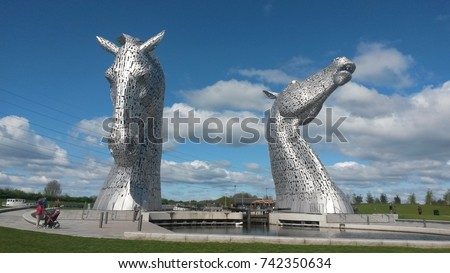 The Kelpies, Falkirk, Scotland #742350634