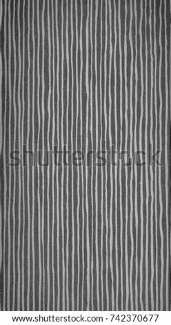 Black and White Extreme Closeup of Gray/Grey Parchment. #742370677
