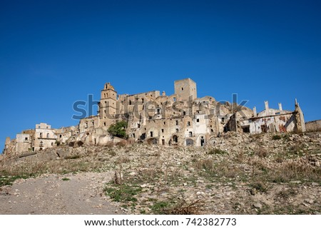 The ghost town of Craco, set of The Passion of the Christ movie #742382773
