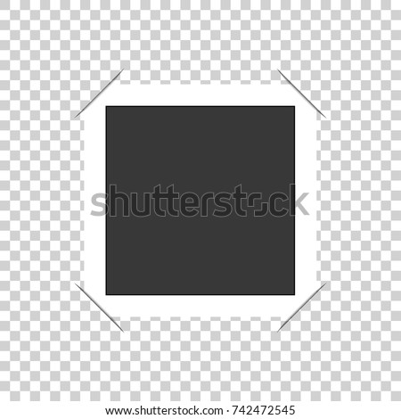 Photo frame with corners. Isolated on transparent background. Vector illustration. #742472545