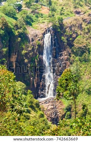 Devon Waterfall near Nuwara Eliya, Sri Lanka.  #742663669