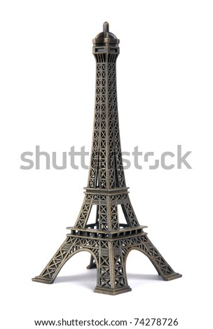 Statue of eiffel tower isolated on white #74278726