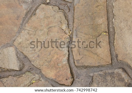 Background of stone wall texture photo #742998742