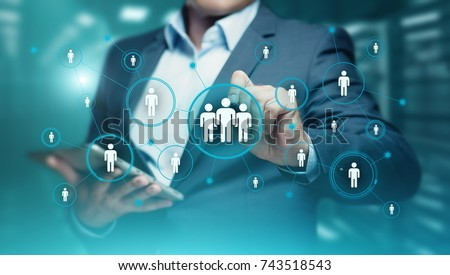 Human Resources HR management Recruitment Employment Headhunting Concept. Royalty-Free Stock Photo #743518543