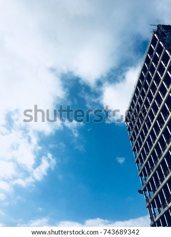 Modern building in Manchester, England #743689342