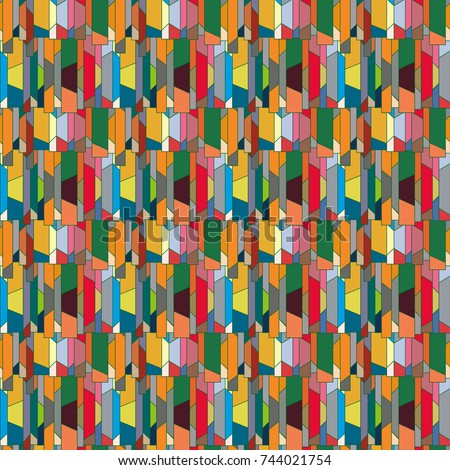 Abstract color seamless pattern for new background. #744021754