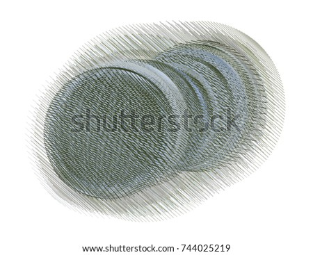 Abstract messy random line circles geometric pattern, colorful & artistic for graphic design, catalog, textile or texture printing & background. Vector illustration graphic. #744025219