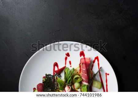 food photography creative restaurant meal recipe concept