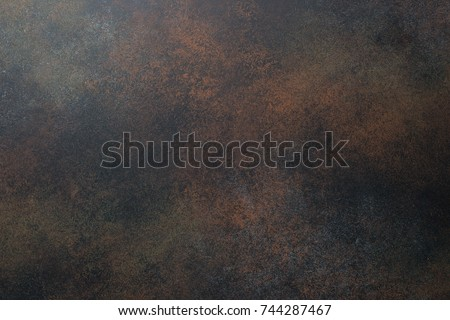 Empty brown rusty stone or metal surface texture.