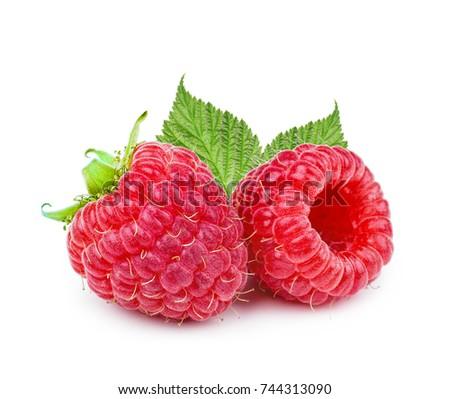 Raspberry isolated on white background. #744313090