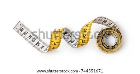 Tape measure isolated on white background #744551671