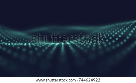Abstract wave background. Connection dots structure. Polygonal abstract background. Plexus concept art. #744624922