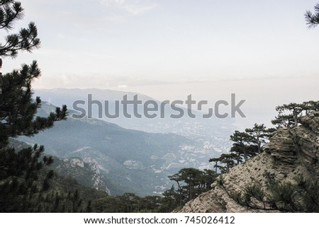 Nature landscape mountain in sky point #745026412