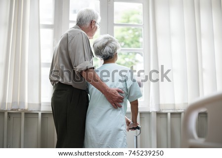 An elderly patient at the hospital #745239250