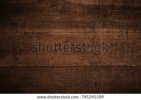 Old grunge dark textured wooden background,The surface of the old brown wood texture #745245589